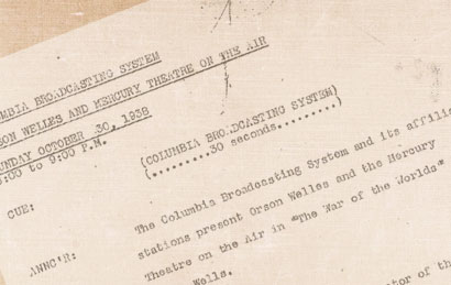 The Annotated War of the Worlds: The 1938 Radio Script